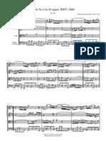 Bach Suite 3 D Maj BWV 1068 (Aria en Sol)