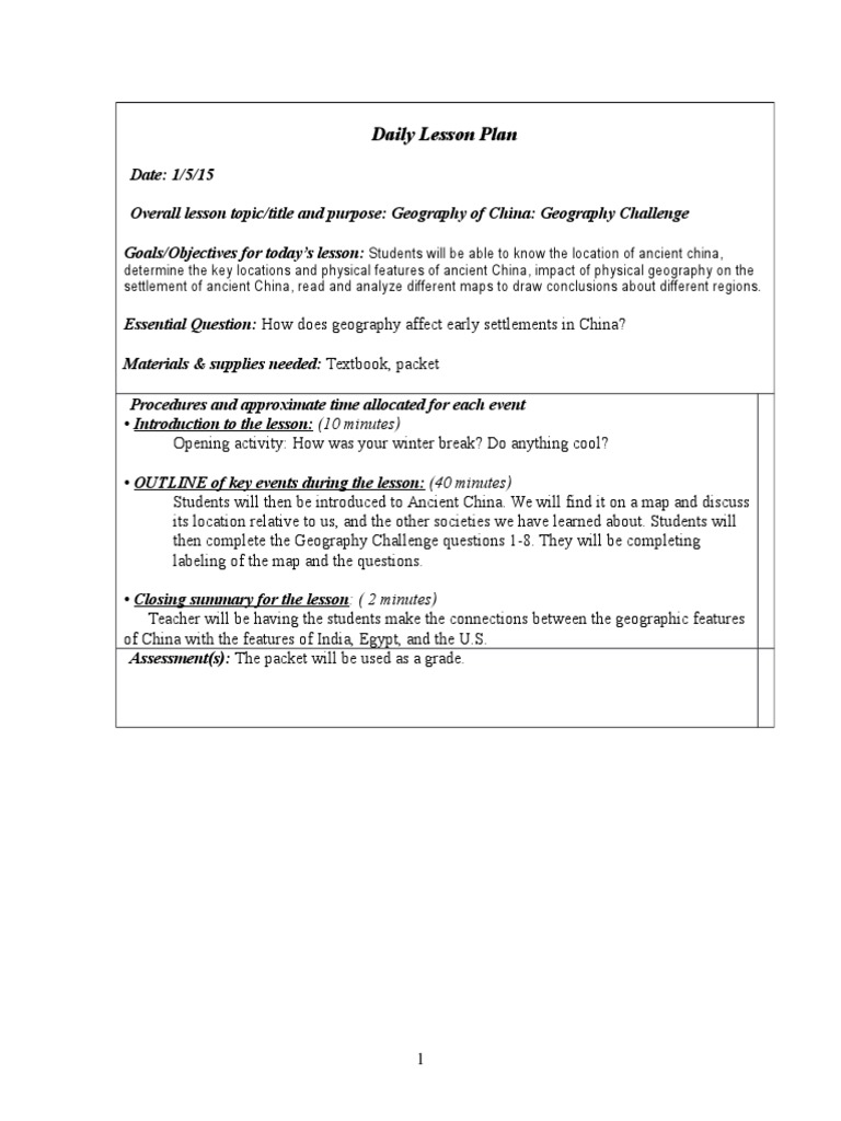 Geography unit lesson plan geography thecheapjerseys Gallery