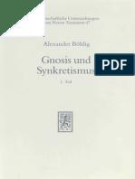 BOHLIG a., Gnosis Und Synkretismus