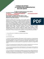 Yepes sentencia consejo estado nulidades electorales