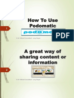 How to Use Podomatic
