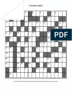 Tornado Safety Crossword Puzzle