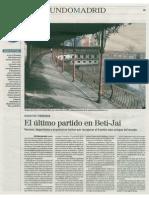 El último partido en el Beti-Jai (El Mundo. Madrid - 20/04/2015)