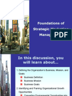 Foundation of Strategic Marketing