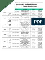 Calendario Capacitación Incubadora