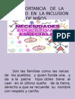 La Importancia de La Sociedad en La Inclusion