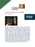 Instituto Efrat - La Educacion Sexual Escolar a Debate