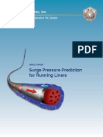 Surge Pressure Prediction for Running Liners