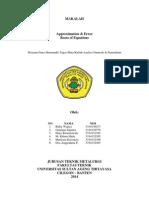 Anum 1&2 - Aproximation & Error, Roots of Equations