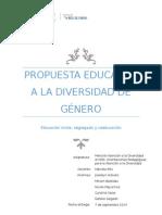 Propuesta Educativa a La Diversidad de GÉNERO