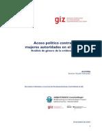 Acoso Politico a mujeres autoridades en el Perú