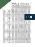 IBT Summer 2015 Tentative Timetable
