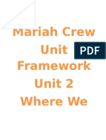 Unit 2 Framework Grade K