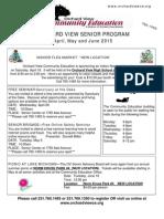 OV Seniors Spring 2015