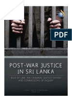 POST-WAR JUSTICE IN SRI LANKA