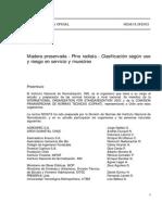 (20)Nch 819 of 2003- Madera Preservada - Pino Radiata- Clasificacion Segun Uso y Riesgo en Servic