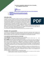 Derecho Posesion Propiedad y Detentacion Inmueble Republica Dominicana