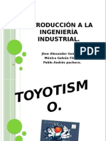 Toyotismo Taylorismo Ingenieria Industrial