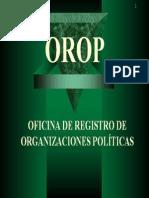 oficina de registrs de organizaciones políticas