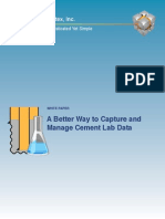 A Better Way to Capture and Manage Cement Lab Data