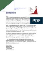Lapac Scholarship Info Letter