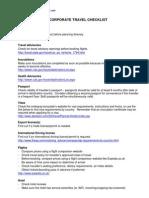 Corporate Travel Planning Checklist