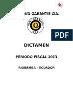 FORMATO DE DICTAMEN