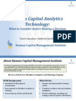 Human Capital Analytics Technology What to Consider Before Making a Decision
