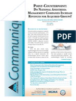 Winter 2015 Communique by Anesthesia Business Consultants