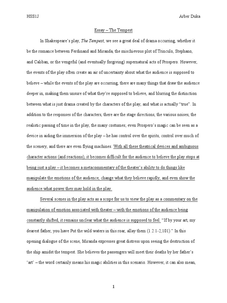 Essay Current Topics Tempest Essay Critical Essays The Tempest Stalin Essay Titles Writing And  Completing Reports And Proposals Caliban In The Tempest Essay Why No  Argument  Mice And Men Essays also 750 Word Essay Example Speeches Essays  Presentations Newsroom  Medtronic Caliban Essay  Descriptive Essay Topics For High School Students