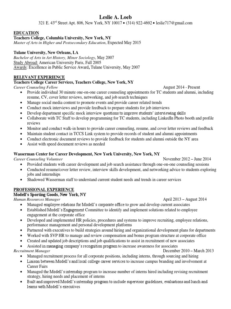 resume health specialties teachers postsecondary database tester