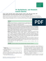 Vitamin D, Metabolic Dyslipidemia, And Metabolic Syndrome in Rheumatoid Arthritis - Am J Med 2012