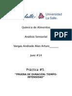 Reprote P-5 analisis sensorial