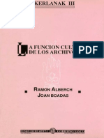 La función cultural de los archivos