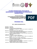 Programa Final III Curso Internacional