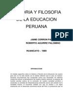 Historia y Filosofia de La Educacion Peruana