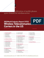 51721 Wireless Telecommunications Carriers in the US Industry Report