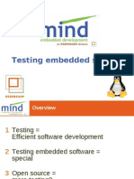 Embedded Software Testing