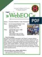 WebEOC Info Flyer Spring 2015