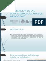 Delimitacion de Las Zonas Metropolitanas de Mexico 2010