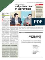 Anuncio del primer caso de Dengue en San Luis.