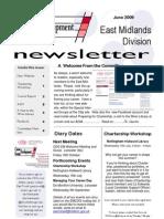 CDG East Midlands newsletter June 2009