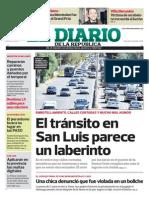 Tapa - Transito complicado en San Luis