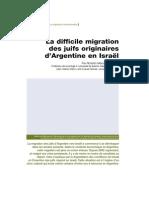 La Difficile Migration Des Juifs Originaires d Argentine en Israel