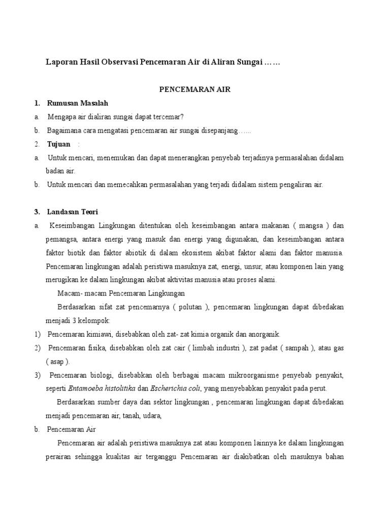 Contoh Teks Laporan Hasil Observasi Tentang Rumah Sendiri Kumpulan Contoh Laporan