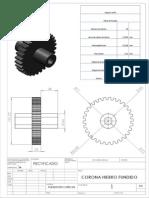 Engrane Corona FUNDICION GRIS