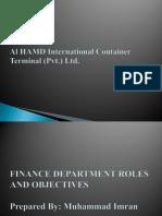 Finance Department Presentation
