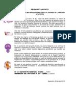PRONUNCIAMIENTO Federeción de Mujeres Adolescentes y Jóvenes de la región Ayacucho