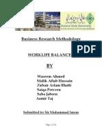 Amir Abbasi and Raja Waseem FUUAST ISLAMABAD (Work Lif Balnace)