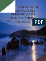 La Apertura de La Filosofía Adel Derecho a Los Valores Éticos (1)